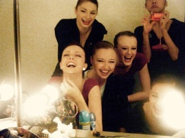 While at the Royal Ballet School with the girls in my year - Hannah Carter, Imogen Chapman, Mari Kawanaki & Nicole Cato